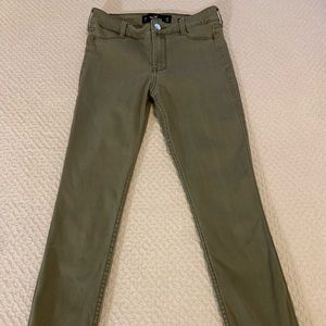 Hollister green crop stretch pants